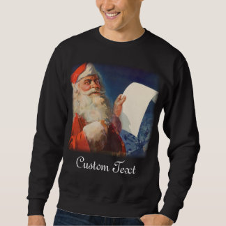 Vintage Christmas Santa Claus Naughty or Nice List Sweatshirt