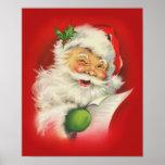 Vintage Christmas Santa Claus Poster