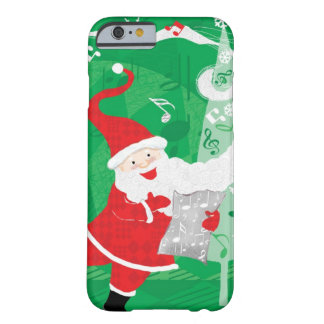 Vintage Christmas, Santa Claus Singing and Dancing Barely There iPhone 6 Case