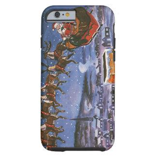 Vintage Christmas, Santa Claus Tough iPhone 6 Case