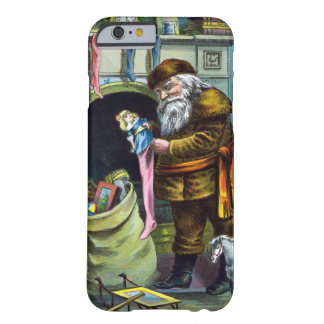 Vintage Christmas, Santa Claus Toys and Stockings Barely There iPhone 6 Case
