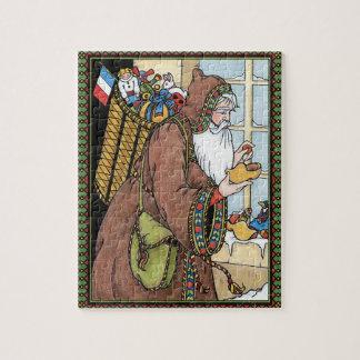 Vintage Christmas, Santa Claus Toys Clogs Shoes Jigsaw Puzzle