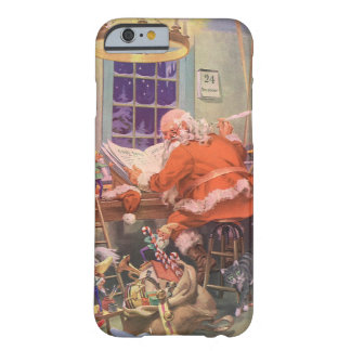 Vintage Christmas, Santa Claus with Elves Workshop Barely There iPhone 6 Case