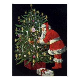 Vintage Christmas, Santa Claus with Presents Postcard