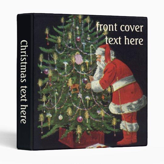 Vintage Christmas, Santa Claus with Presents Vinyl Binders
