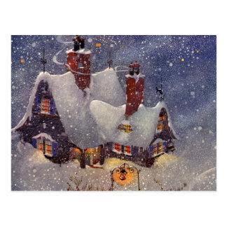 Vintage Christmas, Santa Claus Workshop North Pole Postcard