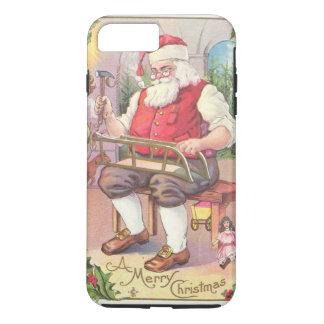 Vintage Christmas Santa in Workshop iPhone 7 Plus Case