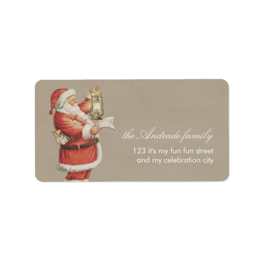 Vintage Christmas Santa Personalized Holiday