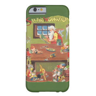 Vintage Christmas Santa with Elves in the Workshop Barely There iPhone 6 Case
