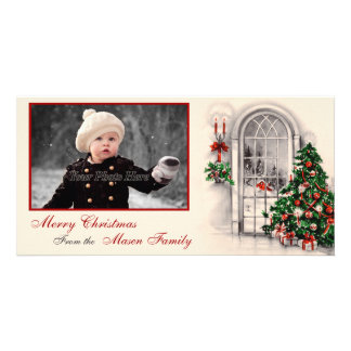 Vintage Christmas Scene Photo Card