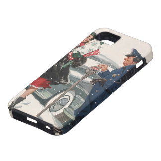 Vintage Christmas, Shopping Presents Policeman iPhone 5 Case