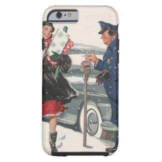 Vintage Christmas, Shopping Presents Policeman Tough iPhone 6 Case