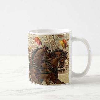 Vintage Christmas Sleigh Ride Coffee Mug