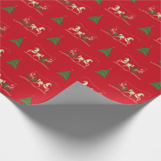 Vintage Christmas Sleigh Ride Wrapping Paper