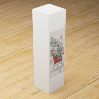 Vintage Christmas sleigh Wine Gift Box