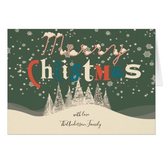 Vintage Christmas Snow Scene | Greetings Card