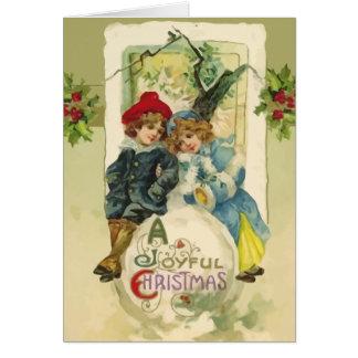 Vintage Christmas Snowball Card