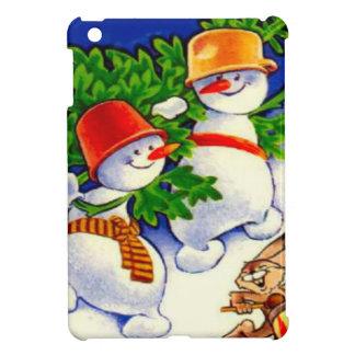 Vintage Christmas Snowman band iPad Mini Covers