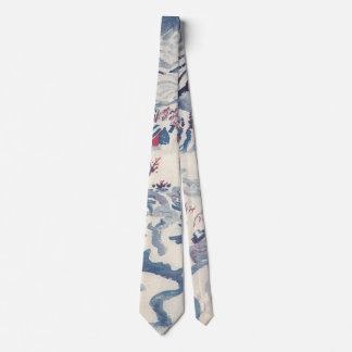 Vintage Christmas, Snowscape with Winter Village Tie