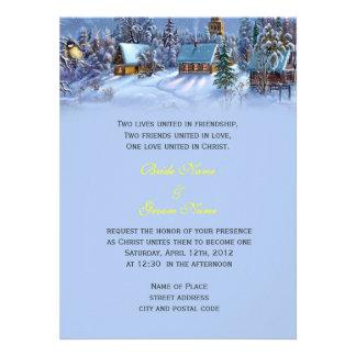 Vintage Christmas snowy world religion s wedding Custom Invite