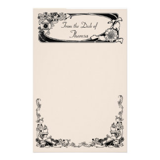 Vintage Christmas Sunflower Stationery