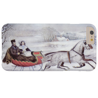 Vintage Christmas, The Road Winter, Sleigh Horse Barely There iPhone 6 Plus Case