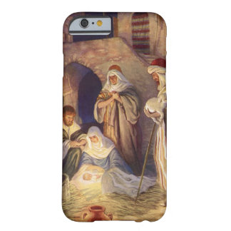 Vintage Christmas, Three Shepherds and Jesus Barely There iPhone 6 Case