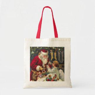 vintage christmas tote bags