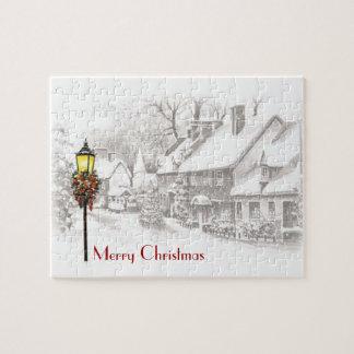 Vintage Christmas Town Puzzle