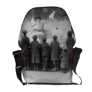 Vintage Christmas Toy Store Messenger Bag