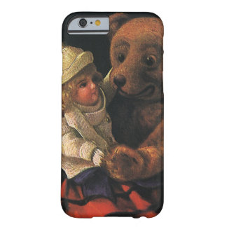 Vintage Christmas Toys, Doll and a Teddy Bear Barely There iPhone 6 Case