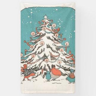 Vintage Christmas Tree Banner