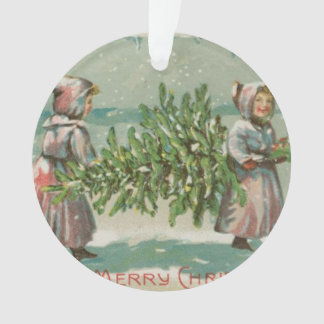 Vintage Christmas Tree cutting Ornament