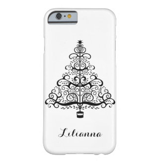 Vintage Christmas Tree Decorative Victorian Scroll Barely There iPhone 6 Case