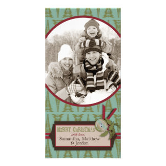 Vintage Christmas Tree Photo Card