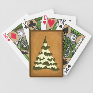 Vintage Christmas Tree Playing Cards