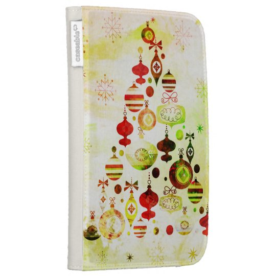Vintage Christmas Tree Watercolor Ornaments Cases For The Kindle