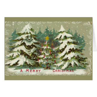 Vintage Christmas Trees Card