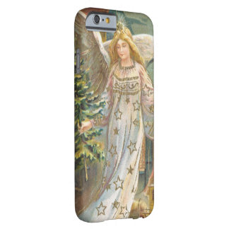 Vintage Christmas, Victorian Angel with Tree Barely There iPhone 6 Case