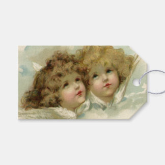 Vintage Christmas, Victorian Angels in the Clouds Gift Tags