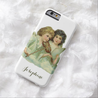 Vintage Christmas, Victorian Angels Music Violin Barely There iPhone 6 Case