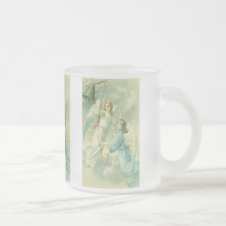Vintage Christmas, Victorian Angels with Bell Mugs