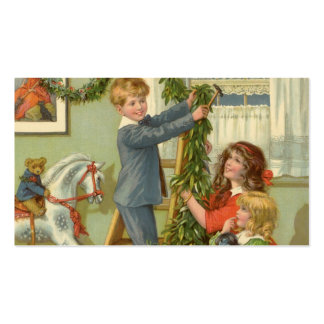 Vintage Christmas, Victorian Children Decorating Pack Of Standard Business Cards