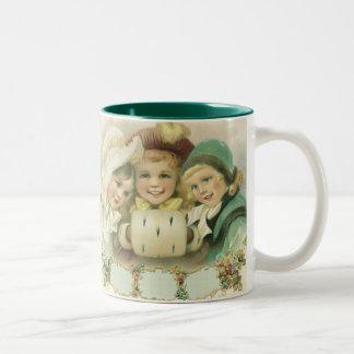 Vintage Christmas Victorian Girls Children Coffee Mugs
