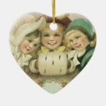 Vintage Christmas, Victorian Girls, Children Christmas Ornament