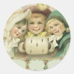 Vintage Christmas, Victorian Girls, Children Stickers