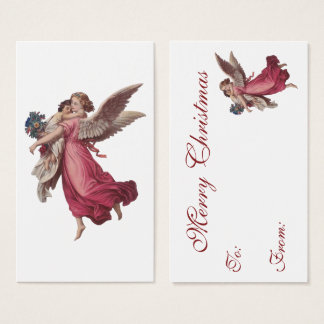 Vintage Christmas, Victorian Guardian Angel Business Card