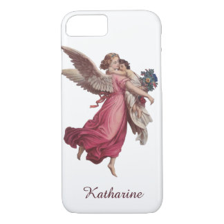 Vintage Christmas, Victorian Guardian Angel iPhone 8/7 Case
