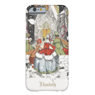 Vintage Christmas, Victorian People at Church Barely There iPhone 6 Case