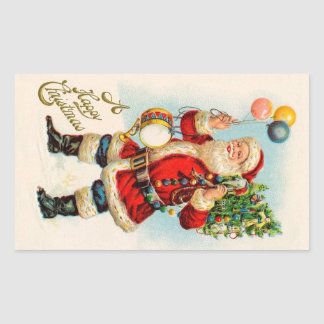 Vintage Christmas, Victorian Santa Claus Balloons Sticker